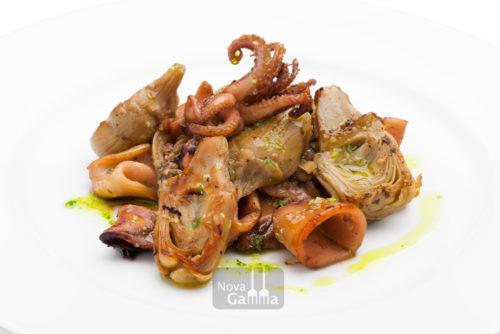Calamar con alcachofas de precocinados Nova Gamma - Quinta gama gourmet