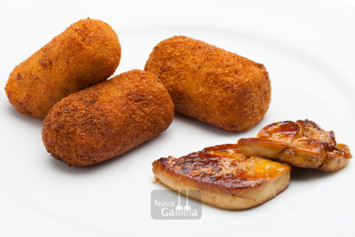 Precocinados nova gamma - Croquetas de Foie Micuit con Boletus