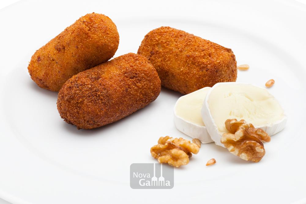 Croquetas de queso de cabra pipas y nueces nova gamma - Queso de cabra y colesterol ...