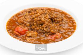 Lentejas Estofadas con Carne de Ibérico - Platos precocinados de cuchara