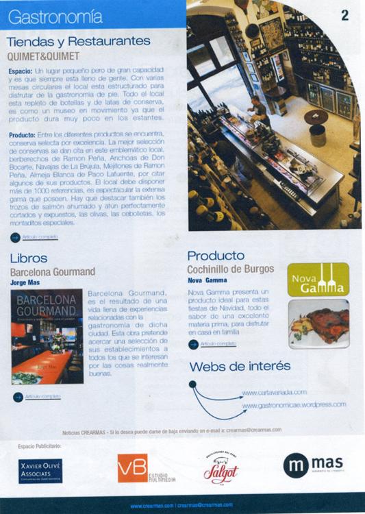 Gastronomía Tiendas y Restaurantes