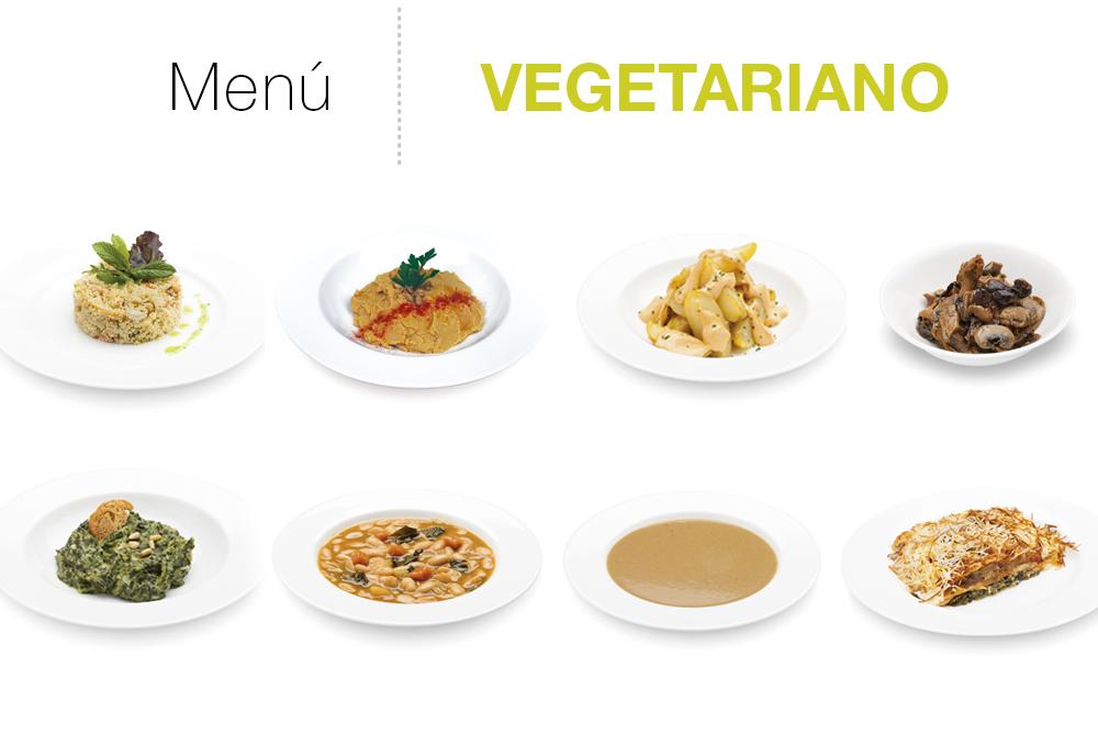 Menú vegetariano