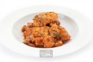 Tacos de Bacalao con Sanfaina de Nova gamma, Platos preparados