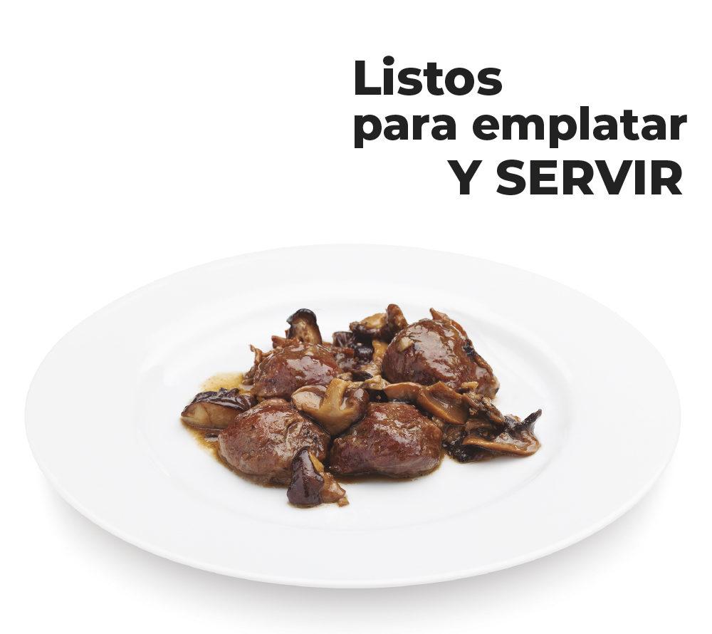 Platos de quinta gama preparados para restaurantes listos para emplatar y servir
