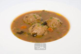 Sopa de Miso amb Verdures i Mandonguilles de Bolets