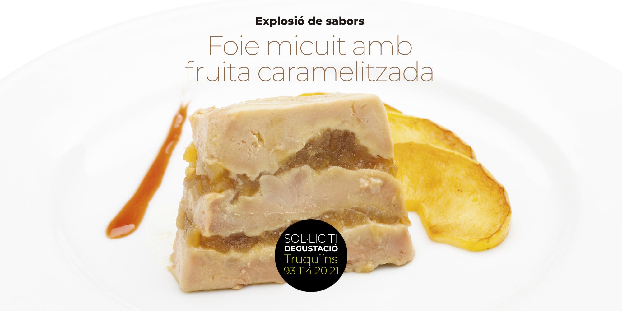 Plats de cinquena gamma preparats per a restaurants - Foie micuit amb fruita confitada