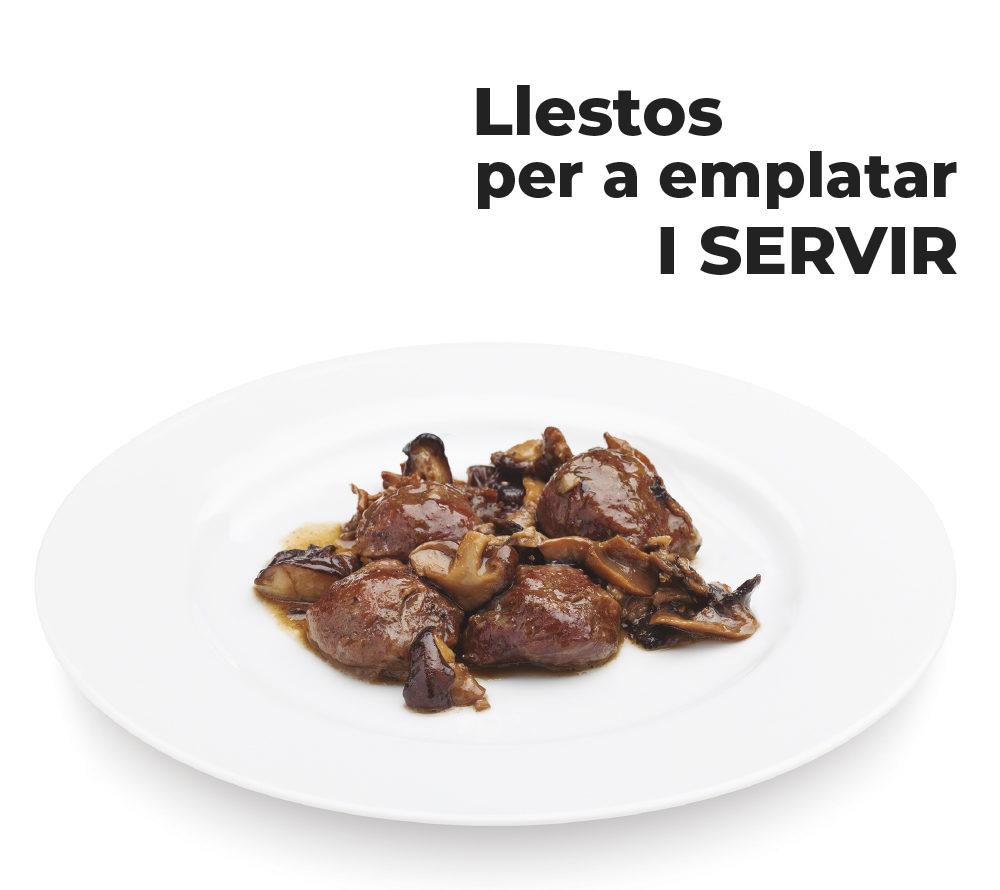 Plats de cinquena gamma preparats per a restaurants llestos per a emplatar i servir